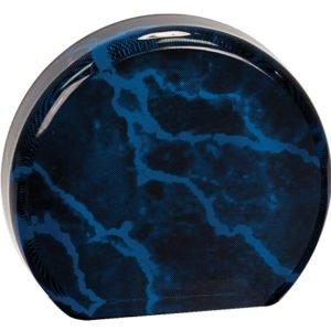 BLUE MARBLE ACRYLIC ROUND