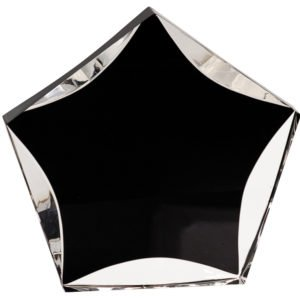 BLACK/CLEAR LUMINARY STAR ACRYLIC