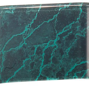 GREEN MARBLE ACRYIC CRESCENT