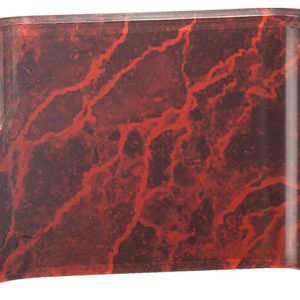 RED MARBLE ACRYIC CRESCENT