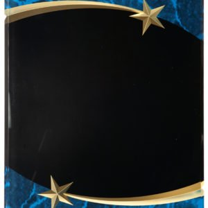 BLUE MARBLE SHOOTING STAR ACRYLIC PLAQUE