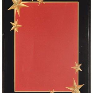 BURGUNDY CARVED STAR ACRYLIC PLAQUE