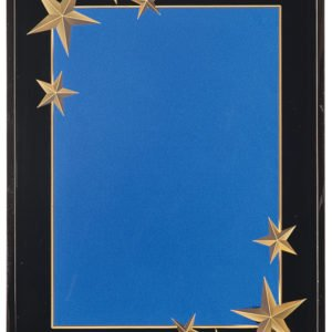 BLUE CARVED STAR ACRYLIC PLAQUE