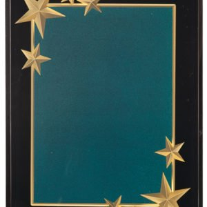 GREEN CARVED STAR ACRYLIC PLAQUE