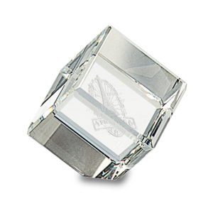 CRYSTAL CUBE PAPERWEIGHT
