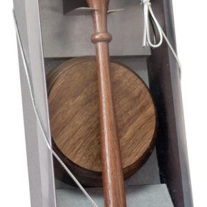 "10"" WALNUT GAVEL DIRECTOR'S SET"