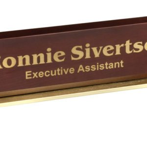 "12 1/2"" PIANO FINISH & METAL NAME BAR"