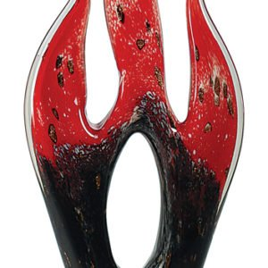 """16 1/4"""" PREMIER RED FLAME ART GLASS"""