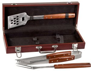 ROSEWOOD FINISH BBQ SET