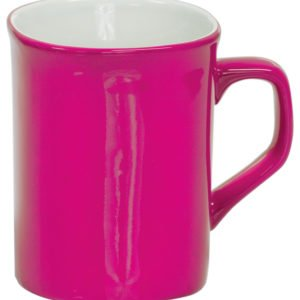 10 OZ PINK ROUNDED CORNER LAZERMUGS