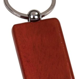ROSEWOOD RECTANGULAR WOODEN KEY CHAIN