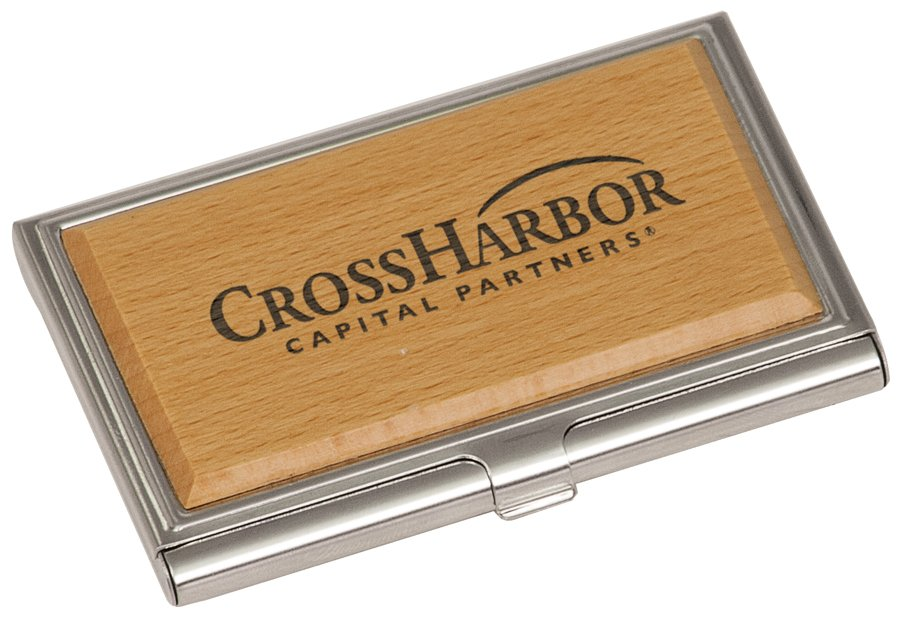 METAL/WOOD BUSINESS CARD HOLDER | Capitol Medals