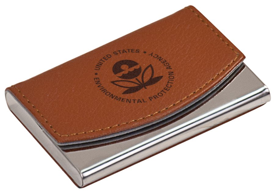 METAL/LEATHER BUSINESS CARD HOLDER | Capitol Medals
