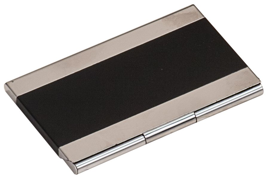 BLACK/SILVER BUSINESS CARD HOLDER | Capitol Medals
