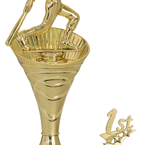 RISING SWIRL RISER SOFTBALL TROPHY