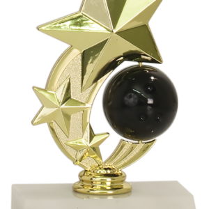 3 STAR SPINNER BOWLING TROPHY