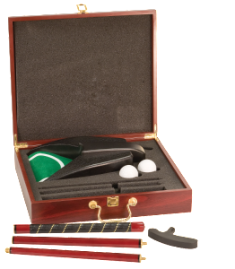 ROSEWOOD FINISH EXECUTIVE GOLF SET