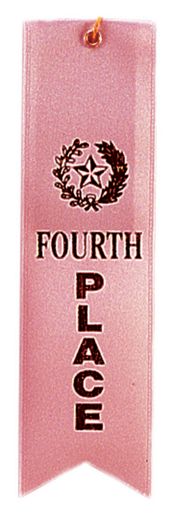 4TH PLACE PINK CARDED RIBBON