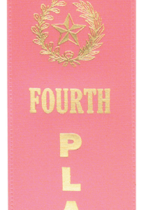 """4TH PLACE PINK """"PINKED TOP"""" RIBBON"""