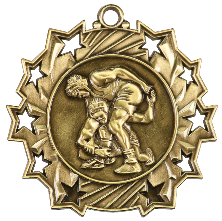 WRESTLING TEN STAR SPORT MEDAL