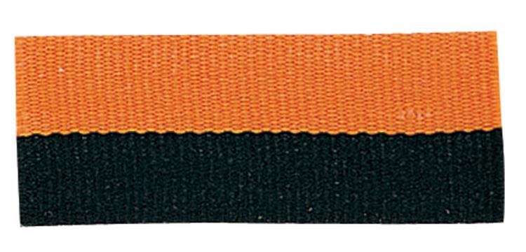 BLACK/ORANGE NECK RIBBON WITH SNAP CLIP