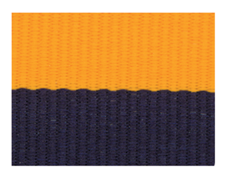 NAVY BLUE/GOLD NECK RIBBON WITH SNAP CLIP