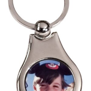 PEAR SHAPED METAL KEY CHAIN
