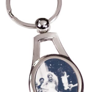 OVAL METAL KEY CHAIN