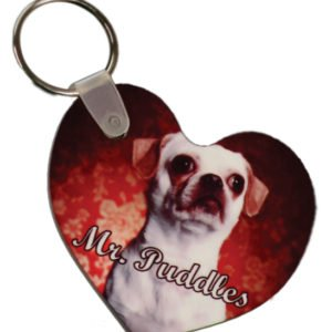GLOSSY PLASTIC HEART KEY CHAIN