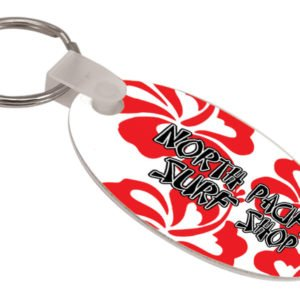 OVAL GLOSSY ALUMINUM KEY CHAIN