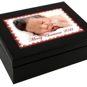 EXPRESSO BLACK KEEPSAKE BOX WITH PHOTO TILE